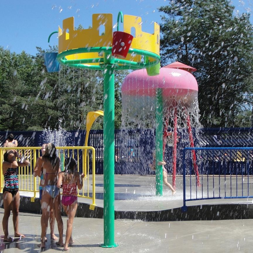 splash pad equipment, waterpark ground sprays, waterpark activity towers, water slide equipment