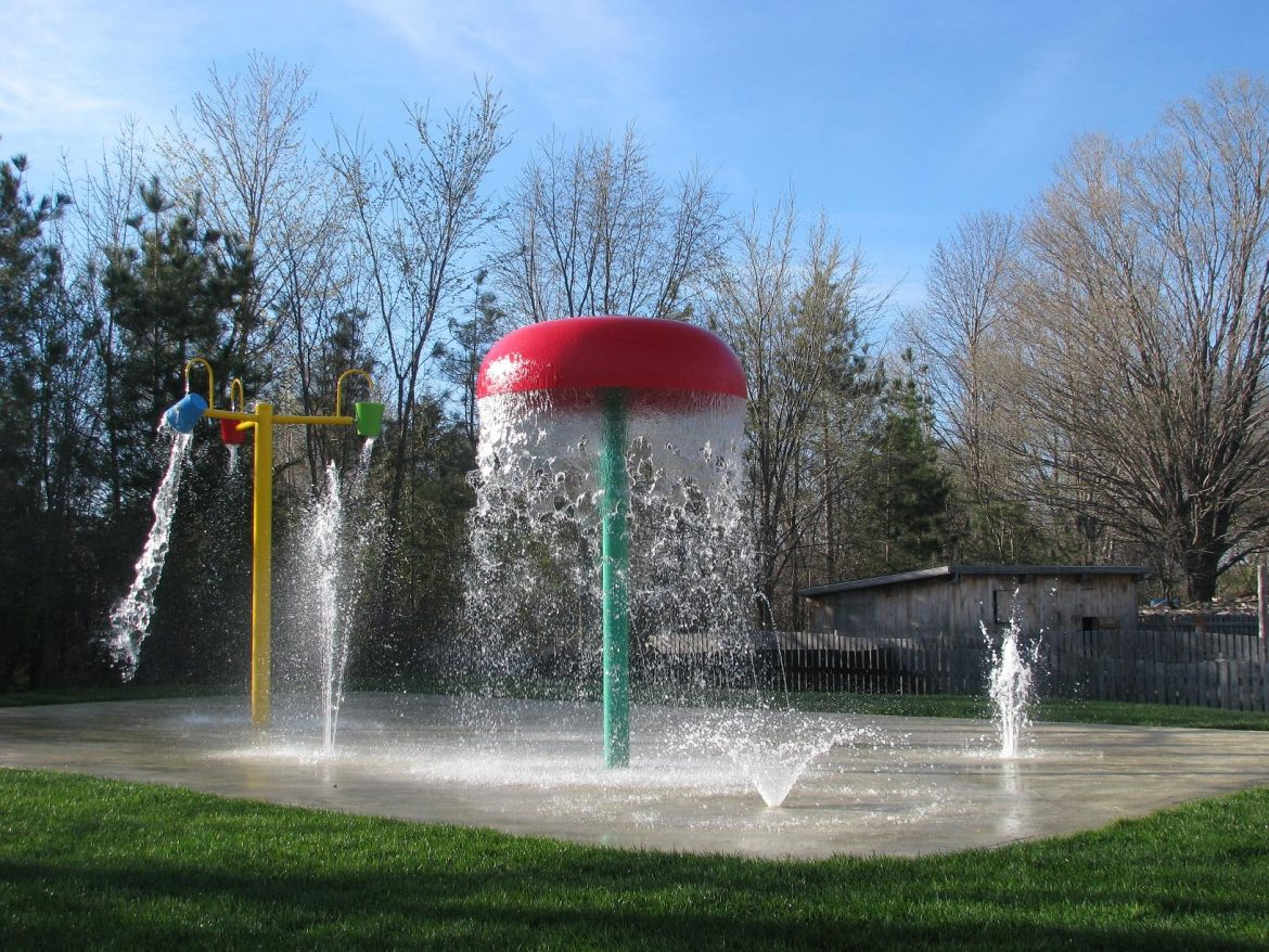 splash park equipment, splash pad equipment, water play structures